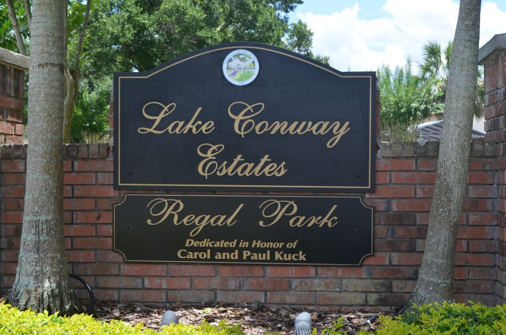 Lake Conway Estates Sign 2